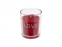 Küünal Love 7x6cm klaasis