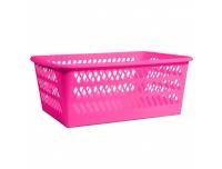 Plastkorv mini 24x34x14,5 roosa