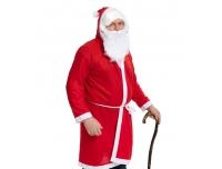 Jõuluvana mantel kapuutsiga 114cm+habe