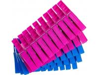 Pesulõksud Expo 50tk roosa/sinine