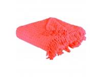 Pleed 120x140cm korall roosa puuvillane