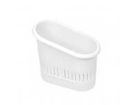Söögiriistade hoidik valge plastik