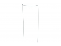 Põõsatugi, 90cm/5mm lainelise äärega