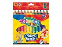 Värvipliiatsid Colorino 24värvi kolmnurk