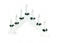 Advendikolmnurk 7lampi LED valge puit