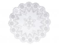 Laualinik pitsist 38cm ümar valge