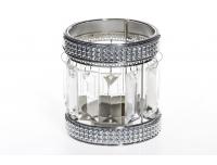 Teeküünlahoidik Kristall 10cm klaas/met.