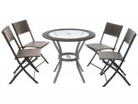 Aiamööbli komplekt laud+4 tooli Lisa