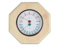 Saunatermomeeter 19x19x3cm puitraamiga