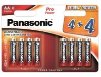 Patarei Panasonic AA 4+4tk ProPower