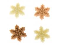 Jõulumotiivid vildist lumehelbed 48tk