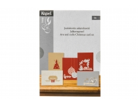 Jõulukaartide valmistamise komplekt 10tk