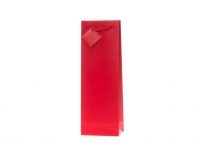 Kinkekott pudelile 12x36cm punane