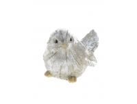 Dekoratsioon Hõbedane lind 12,5cm