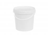 Ämber kaanega 2L plastik valge