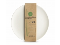 Taldrik Bambus 20cm/4tk valge