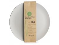 Taldrik Bambus 25,5cm/4tk hall
