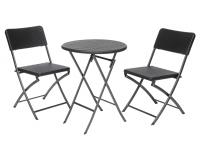 Komplekt Plaza kokkupandav/ laud+2 tooli