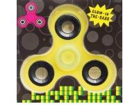 Spinner 7,5cm  pimedas helendav kollane