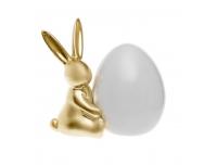 Keraamiline Jänes munaga 12,5x14,5cm