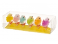 Tibud värvilised 6tk klambriga