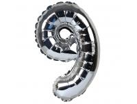 Õhupall nr.9 34cm  foolium hõbe