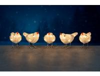 Valguskett Linnud IP44 soe valge
