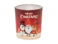 Lõhnaküünal klaasis Merry Christmas 22h