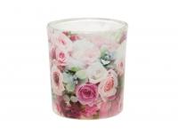 Lõhnaküünal klaasis Roos 22h
