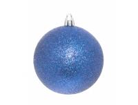 Kuusemunad 8cm sätendavad sinised 4tk