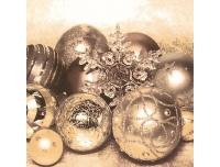 Salvrätikud 33x33cm 20tk Kuld.jõuluehted
