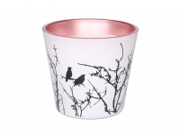Küünal Linnud 10x8cm roosa 35h