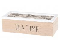 Teekarp puidust 22,5x10x7cm Lehed