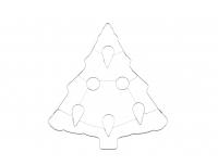 Piparkoogivorm Kuusk 3D