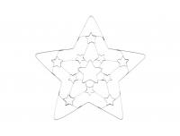 Piparkoogivorm Täht 3D
