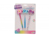 Harilik pliiats Pixie kustukummiga 3tk