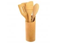 Köögitarvikute komplekt 5-osal.,bambus