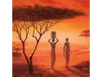 Salvrätikud 33x33cm 20tk Aafrika naised