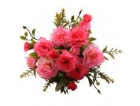 Kunstlill Nelgikimp 22cm roosa