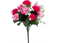 Kunstlillekimp Nelk roosa/punane