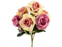 Kunstlillekimp Roos 35cm lilla