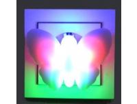 Öölamp LED värvilised liblikad