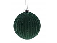 Kuusemuna Samet glitteriga 8cm roheline
