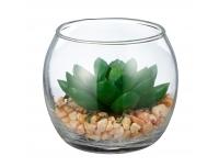 Kunstlill Succulent 7cm klaasvaasis