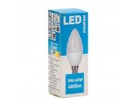 LED lamp Power C38 400LM E14 soe valge
