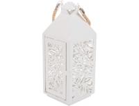 Latern Ornament valge metallist