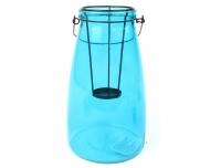 Teeküünlalühter klaas Pine 26cm sinine