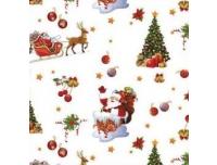 Vakstu 140cm Jõuluvana ja kuused valge