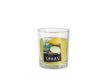 Lõhnaküünal Spaas klaasis 25h Sidrun