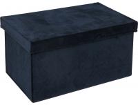 Sametkarp kaanega Blue  31 x 20 x H.16cm